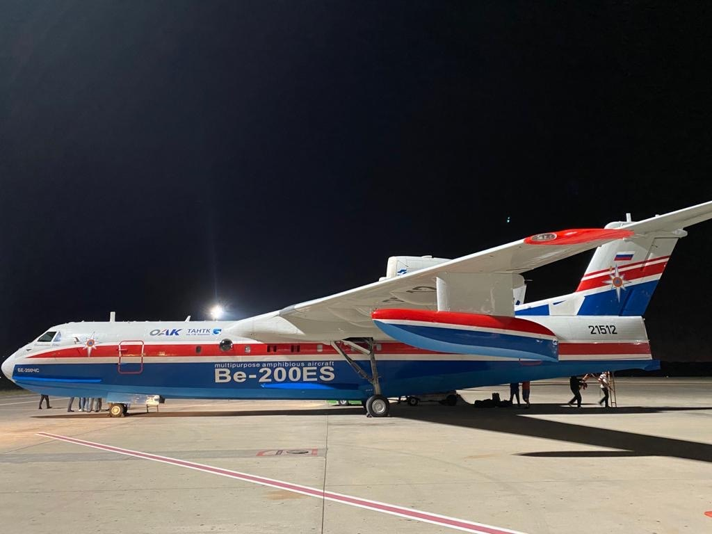 Russian Be-200ES Aircrafts are Ready to Firefighting Actions in Antalya, İzmir and Bodrum