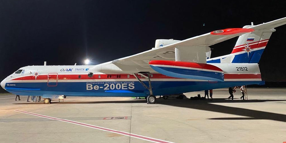 Russian Be-200ES Aircraft are Ready for Firefighting Action in Antalya, Izmir and Bodrum